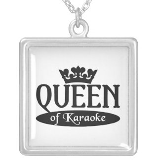 Queen of Karaoke necklace