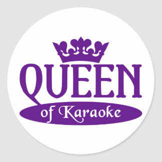 Queen of Karaoke stickers