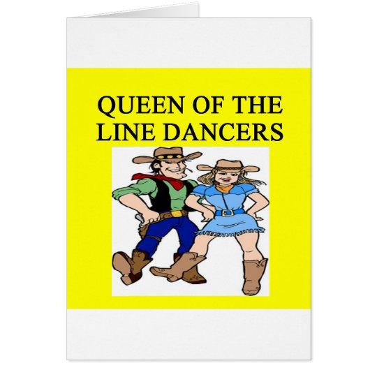 queen of line dancing card