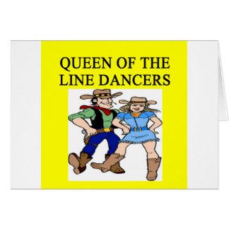queen of line dancing greeting cards