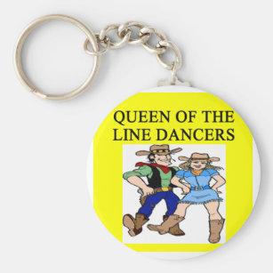 queen of line dancing key ring