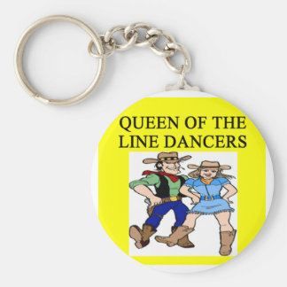 queen of line dancing key ring