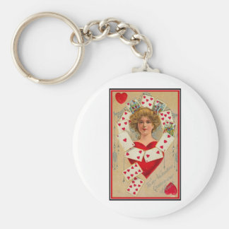Queen of My Heart (2) Basic Round Button Key Ring