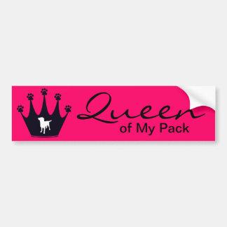 Queen of My Pack Car Bumper Sticker