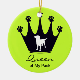 Queen of My Pack Double-Sided Ceramic Round Christmas Ornament