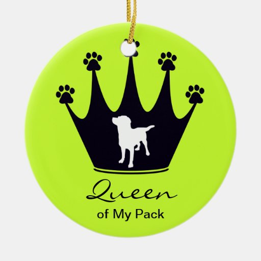 Queen of My Pack Christmas Tree Ornament