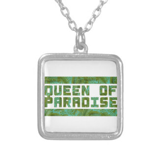 Queen of Paradise tropical print Custom Necklace
