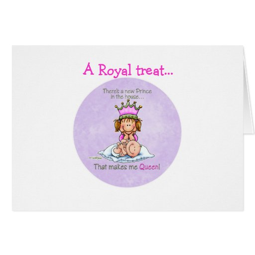 Queen of Prince - Big Sister Greeting Card