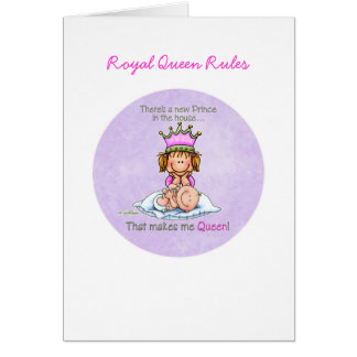 Queen of Prince - Big Sister Greeting Cards
