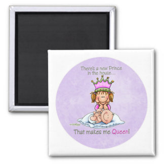 Queen of Prince - Big Sister Square Magnet