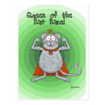 Queen of Rat Race Boss's Day Funny Humour Postcard