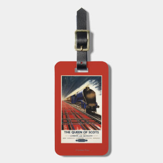 Queen of Scots Pullman Train Luggage Tag