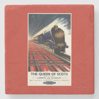 Queen of Scots Pullman Train Stone Coaster