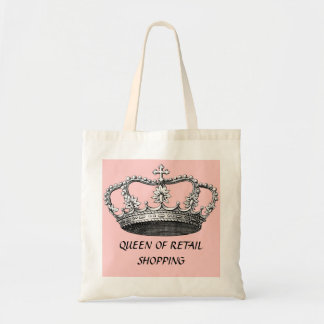 Queen of Shopping Budget Tote Bag