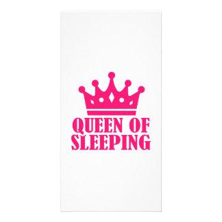 Queen of sleeping photo card