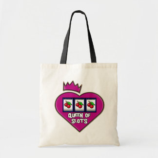 QUEEN OF SLOTS BUDGET TOTE BAG