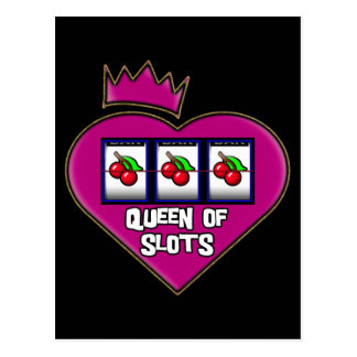 QUEEN OF SLOTS POSTCARD