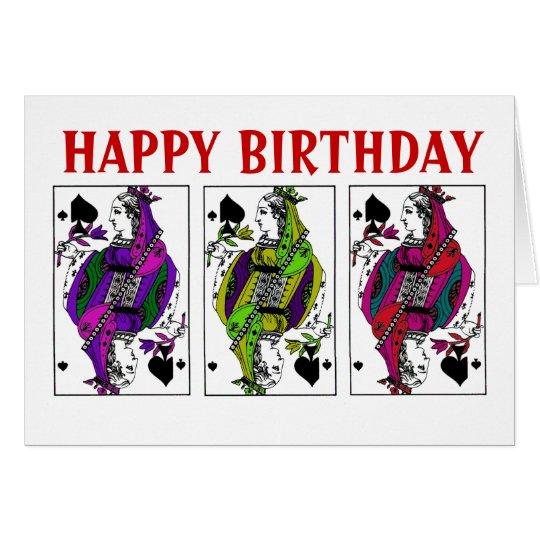 Queen of Spades Birthday Card