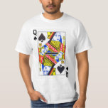 Queen of Spades Playing Card Tees