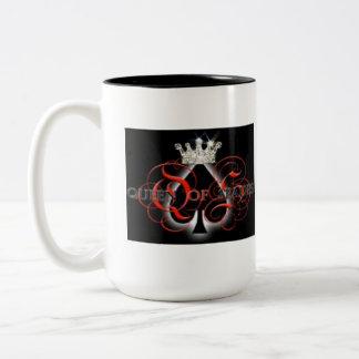 Queen Of Spades Two-Tone Coffee Mug