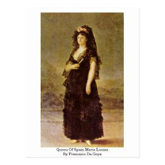 Queen Of Spain Maria Louisa By Francisco De Goya Post Card