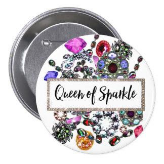 """Queen of Sparkle"" 7.5 Cm Round Badge"
