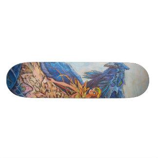 queen of the blue dragon skateboard deck