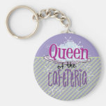 Queen of the Cafeteria - Lunch Lady Basic Round Button Key Ring
