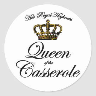 Queen of the Casserole Classic Round Sticker