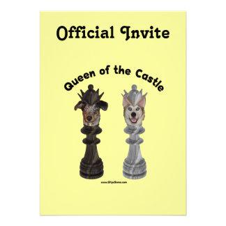 Queen of the Castle Chess Dogs Custom Invite