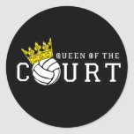 Queen of the Court Round Sticker