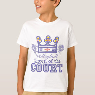 Queen of the Court Volleyball Kids T shirt
