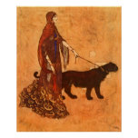 Queen of the Ebony Isles Edmund Dulac Fine Art Poster