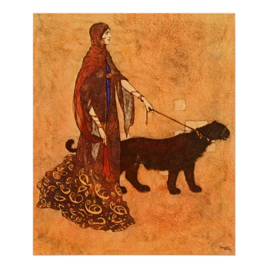 Queen of the Ebony Isles Edmund Dulac Fine