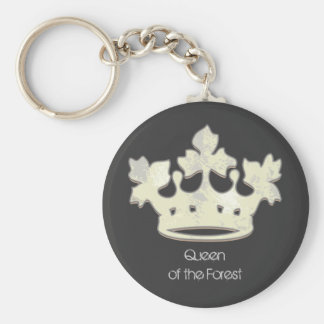 Queen of the Forest Basic Round Button Key Ring