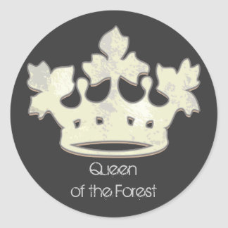 Queen of the Forest Classic Round Sticker