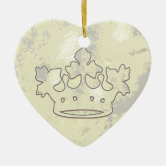 Queen of the Forest Double-Sided Heart Ceramic Christmas Ornament