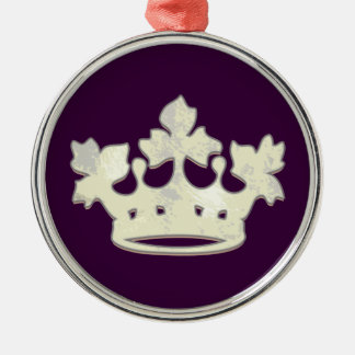 Queen of the Forest Round Metal Christmas Ornament