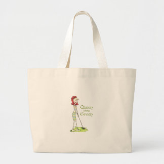 Queen Of The Green Tote Bags