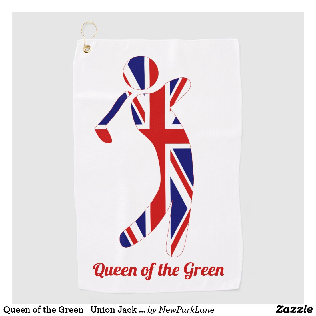 Queen of the Green | Union Jack Golf Player Golf Towel