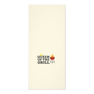 Queen of the grill 10 cm x 24 cm invitation card