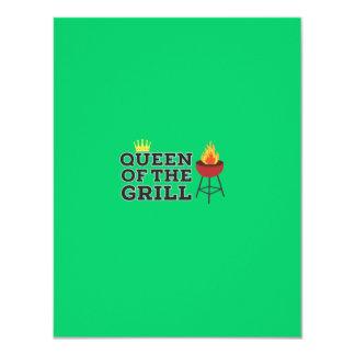 Queen of the grill 11 cm x 14 cm invitation card