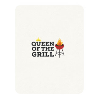 Queen of the grill 11 cm x 14 cm invitation card