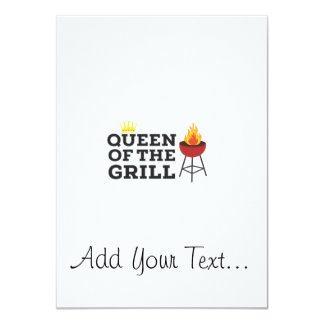 Queen of the grill 11 cm x 16 cm invitation card