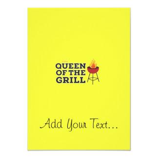 Queen of the grill 11 cm x 16 cm invitation card