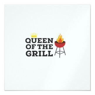 Queen of the grill 13 cm x 13 cm square invitation card
