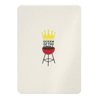 Queen of the grill 13 cm x 18 cm invitation card