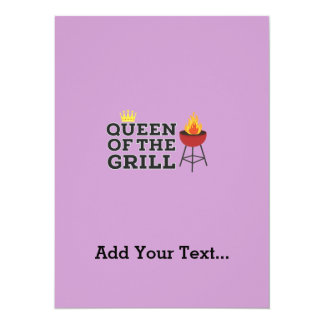 Queen of the grill 14 cm x 19 cm invitation card