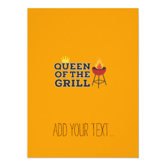 Queen of the grill 17 cm x 22 cm invitation card