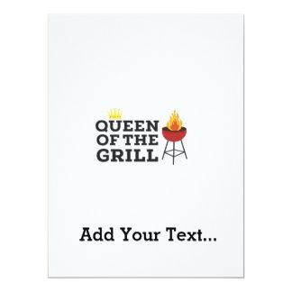Queen of the grill 17 cm x 22 cm invitation card